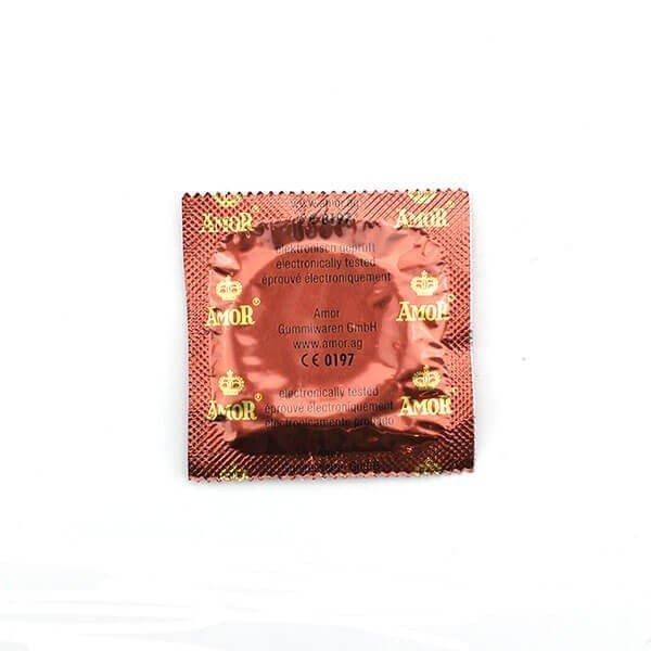 Amor kondom med kirsebær smag bagside