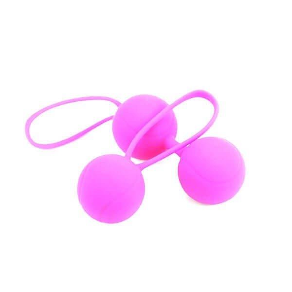 Bækkenbundskuglesæt 2 stk i pink fra Delight