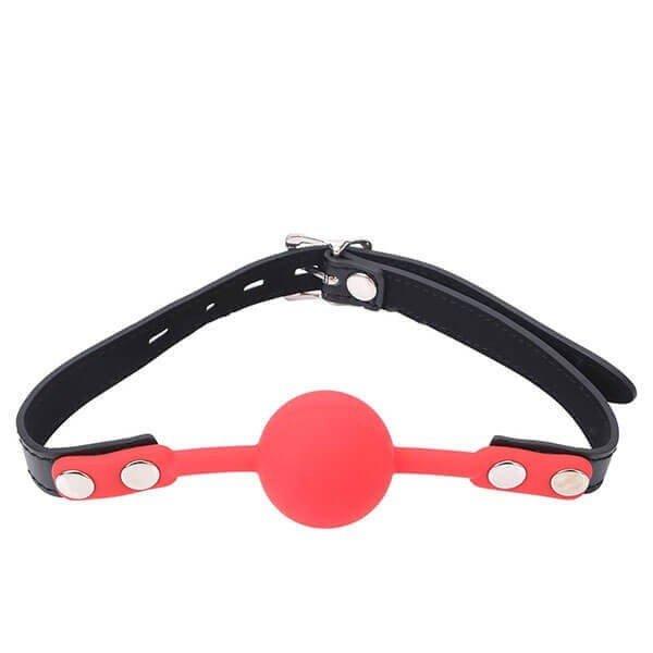 kvalitets rød gagball i silikone fra DreamDirty