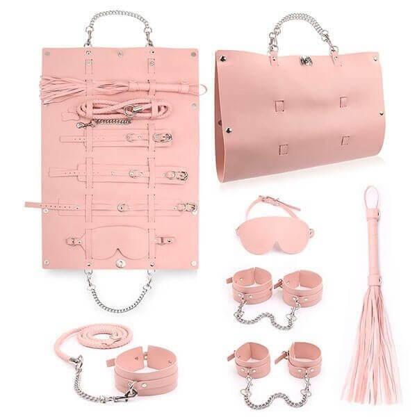 pink bondage sæt med rejsetaske fra playhard