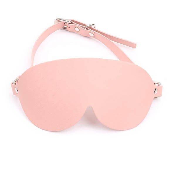 lyserød blindfold med bæltespænde fra simplepleasure