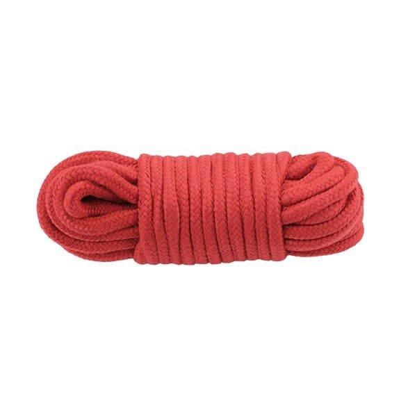 rødt bondage reb på 10 meter i nylon fra simplepleasure