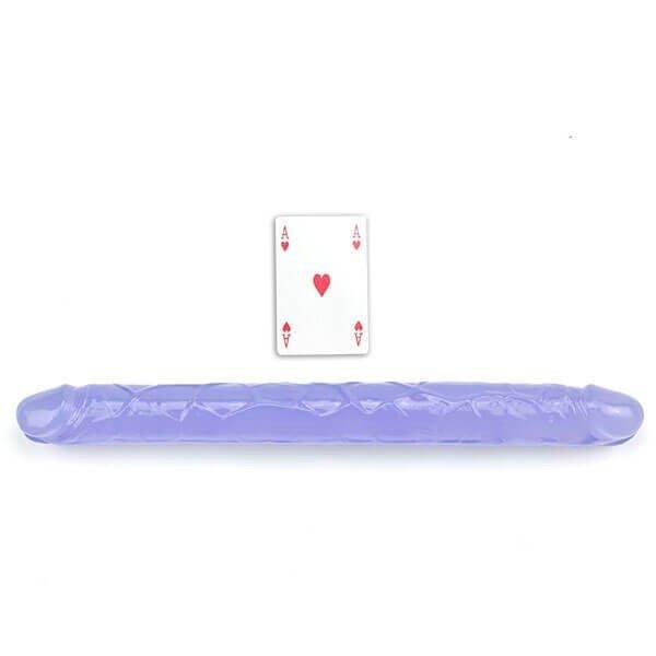 Dobbelt dildo 38 cm blå fra SimplePleasure