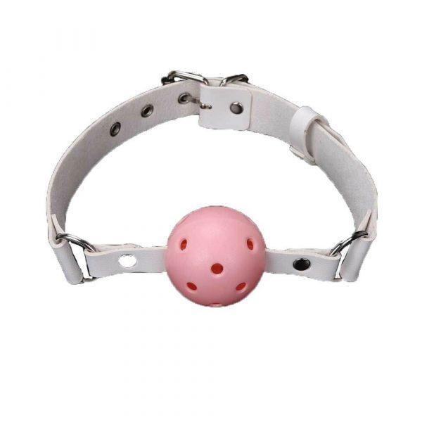 pink og hvid begynder gagball fra simplepleasure