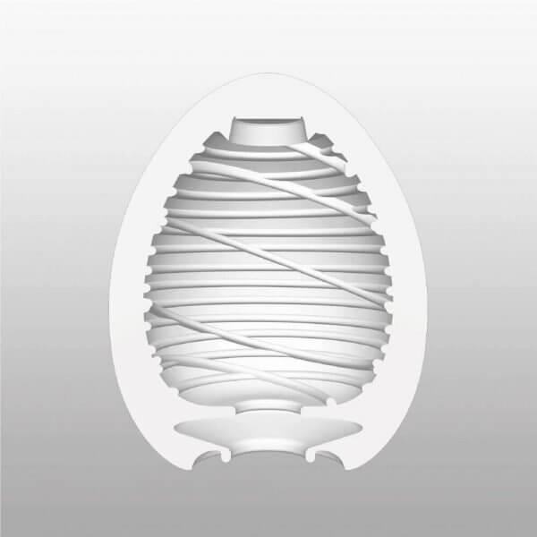 Indvendig illustration af Silky onani ægget fra Tenga
