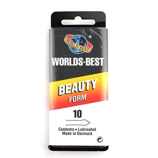 10 stk. beauty form kondomer fra Worlds Best