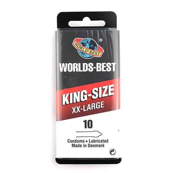 10 stk. king-size xx-large kondomer fra Worlds Best