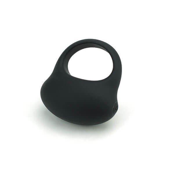 Sort B1 silikone penisring med vibrator fra WowYes