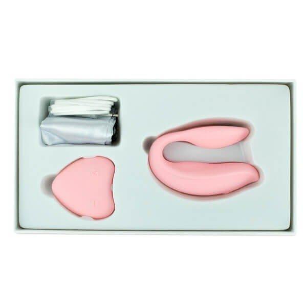 Pink fjernetjent par vibrator fra WowYes i æske