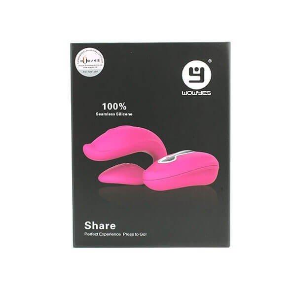 Share fjernbetjent par vibrator fra WowYes i indpakning