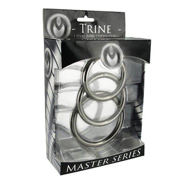 Master Series - Trine Stål Penisringe 3 stk.