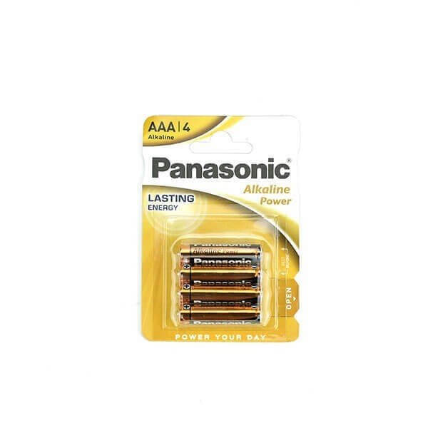 4 stk. AAA batterier fra Panasonic