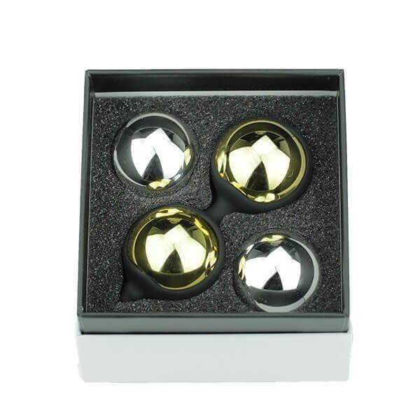 Kegel balls sæt fra SimplePleasure i sort æske