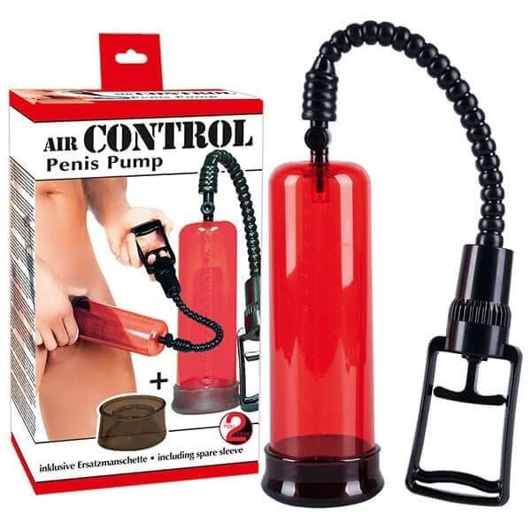 Rød air control penis pumpe fra you2toys