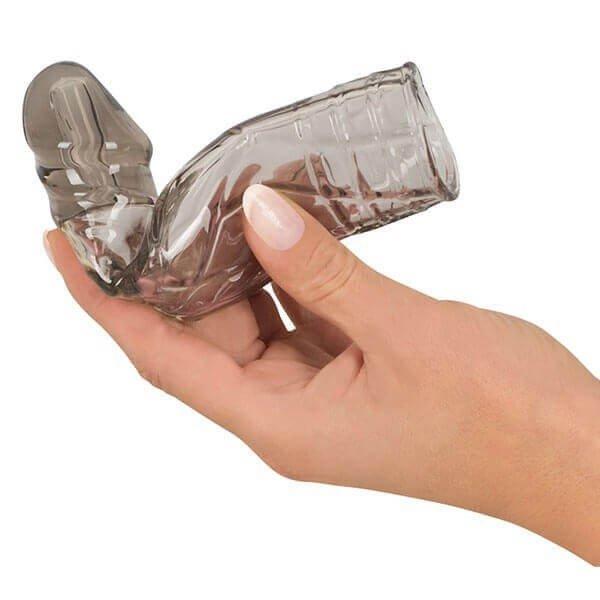 transparent realistisk penis sleeve fra you2toys med hånd
