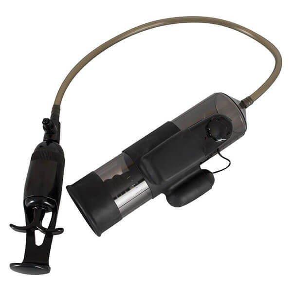 sort penis pumpe med vibrator fra you2toys